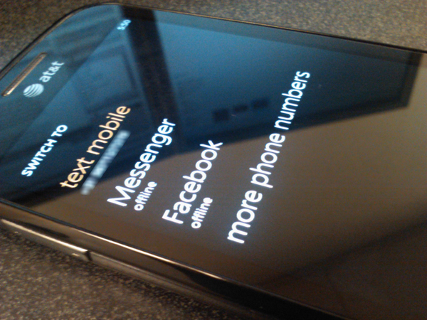 IM and SMS WP7